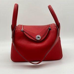 Genuine pleather lindy-look bag